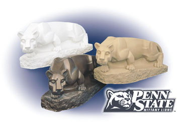 Officially Licensed Nittany Lions. Available in Granite, Bronze and Sandstone Finish Looks. A Unique, One of A Kind Item!